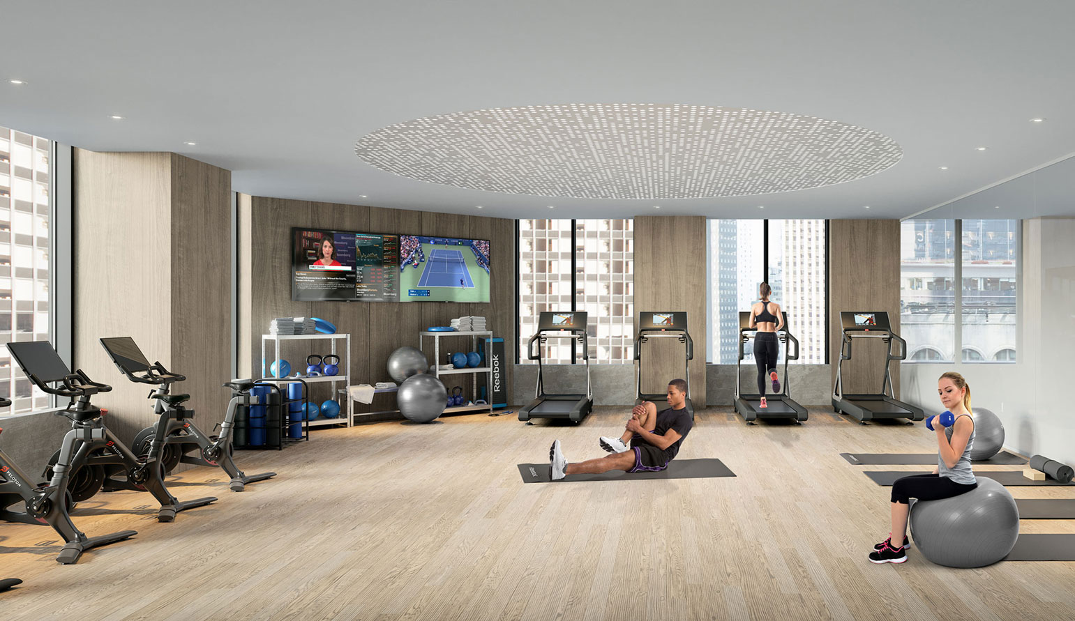 office building gym - 3 Times Square